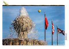 In Flight Over Flags Carry-all Pouch