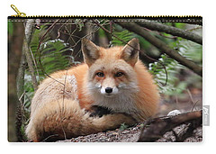 In Hiding Red Fox Carry-all Pouch