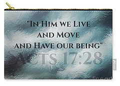 In Him We Live... Carry-all Pouch by Sharon Soberon