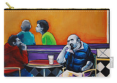 In Love With The Girl In The Green Sweater Carry-all Pouch by Jean Cormier