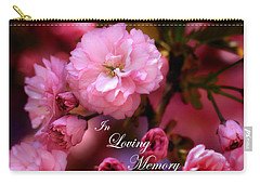 Carry-all Pouch featuring the photograph In Loving Memory Spring Pink Cherry Blossoms by Shelley Neff