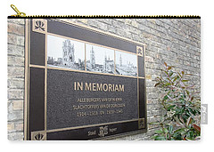 Carry-all Pouch featuring the photograph In Memoriam - Ypres by Travel Pics