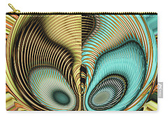 Carry-all Pouch featuring the digital art In My Head by Wendy J St Christopher