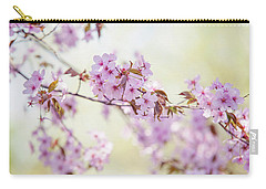 Carry-all Pouch featuring the photograph In Tender Bloom. Spring Watercolors by Jenny Rainbow