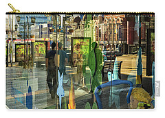 Carry-all Pouch featuring the photograph In The City by Vladimir Kholostykh