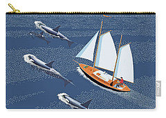 Carry-all Pouch featuring the digital art In The Company Of Whales by Gary Giacomelli