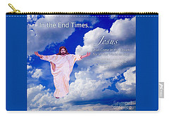 Carry-all Pouch featuring the painting In The End Times Jesus Will Come In The Clouds by Kimberlee Baxter