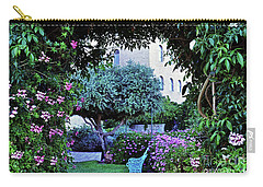 In The Garden At Mount Zion Hotel  Carry-all Pouch by Lydia Holly