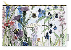 Carry-all Pouch featuring the painting In The Garden by Laurie Rohner