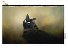 In The Garden Light Cat Art Carry-all Pouch