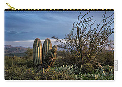 Carry-all Pouch featuring the photograph In The Green Desert  by Saija Lehtonen