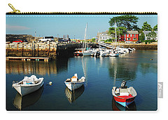 In The Harbor Carry-all Pouch by James Kirkikis