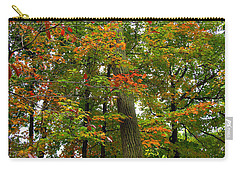 Carry-all Pouch featuring the photograph In The Height Of Autumn by Joan  Minchak