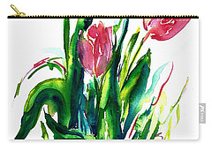 In The Pink Tulips Carry-all Pouch