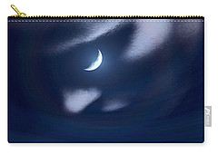 In The Quiet Of Your Mind Blue Carry-all Pouch by ISAW Gallery