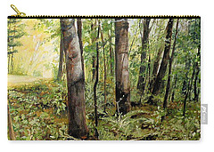 Carry-all Pouch featuring the painting In The Shaded Forest  by Laurie Rohner