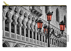 Carry-all Pouch featuring the photograph In The Shadow Of The Doges Palace Venice by Carol Japp