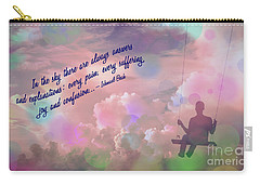 Carry-all Pouch featuring the digital art In The Sky 2016 by Kathryn Strick