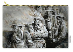 Carry-all Pouch featuring the digital art In The Trenches by Pennie  McCracken