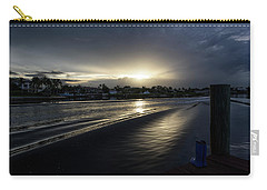 Carry-all Pouch featuring the photograph In The Wake Zone by Laura Fasulo