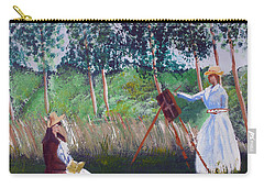 In The Woods At Giverny Carry-all Pouch