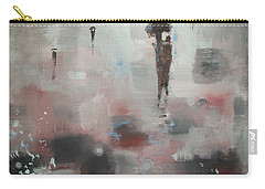 Carry-all Pouch featuring the painting In With The Crowd by Raymond Doward