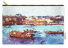 Carry-all Pouch featuring the digital art Inchon Harbor by Dale Stillman