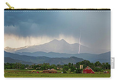Carry-all Pouch featuring the photograph Incoming Storm Panorama View by James BO Insogna