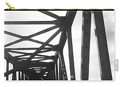 Carry-all Pouch featuring the photograph Indefinite Sight Bw by Jamie Lynn