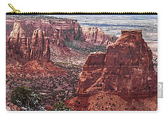 Independence Monument At Colorado National Monument Carry-all Pouch