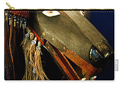 Indian Animal Mask Carry-all Pouch by LeeAnn McLaneGoetz McLaneGoetzStudioLLCcom