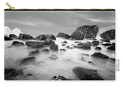 Indian Beach, Ecola State Park, Oregon, In Black And White Carry-all Pouch