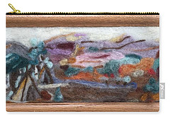 Indian Camp Carry-all Pouch by Christine Lathrop