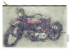 Indian Chief 1 - 1922 - Vintage Motorcycle Poster - Automotive Art Carry-all Pouch