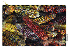 Carry-all Pouch featuring the photograph Indian Corn by Joanne Coyle