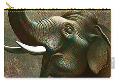 Indian Elephant 2 Carry-all Pouch by Jerry LoFaro