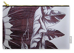 Indian Feathers Carry-all Pouch