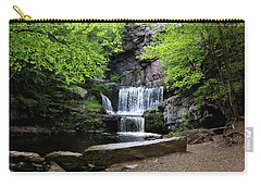 Carry-all Pouch featuring the photograph Indian Ladder Falls by Trina Ansel
