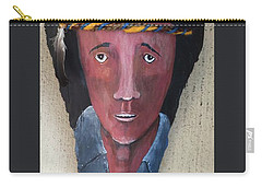 Indian On Palm 2 Carry-all Pouch by Christine Lathrop