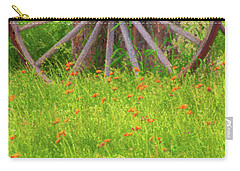 Carry-all Pouch featuring the photograph Indian Paintbrush Flowers by Tom Singleton
