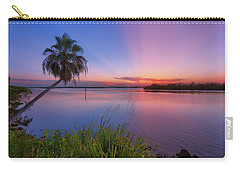 Indian River State Park Bursting Sunset Carry-all Pouch by Justin Kelefas