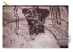 Indian Shaman Rock Art Carry-all Pouch by Gary Whitton