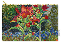 Carry-all Pouch featuring the painting Indian Spring by Hailey E Herrera