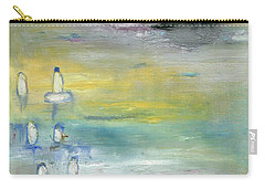 Carry-all Pouch featuring the painting Indian Summer Over The Pond by Michal Mitak Mahgerefteh