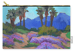 Carry-all Pouch featuring the painting Indian Wells Verbena by Diane McClary