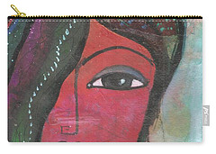 Indian Woman Rajasthani Colorful Carry-all Pouch