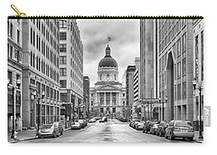 Carry-all Pouch featuring the photograph Indiana State Capitol Building by Howard Salmon