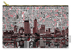 Indianapolis Skyline Abstract 1 Carry-all Pouch by Bekim Art