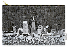 Indianapolis Skyline Abstract 10 Carry-all Pouch by Bekim Art