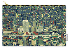Indianapolis Skyline Abstract 3 Carry-all Pouch by Bekim Art